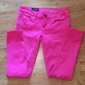 J. Crew toothpick ankle pink jeans